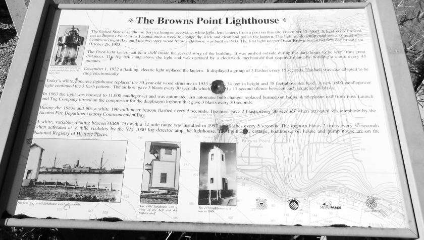 Browns Point Lighthouse Plaque