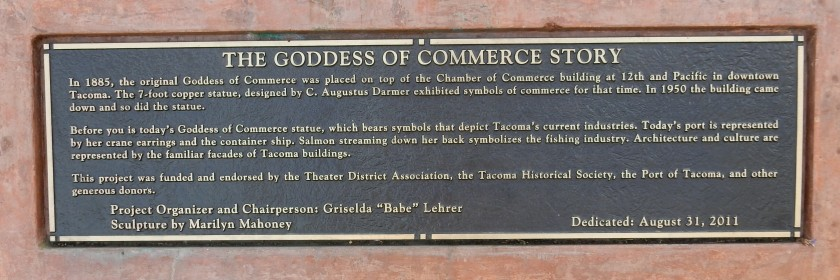 Plaque: The Goddess of Commerce Story