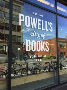 Powell's City of Books window