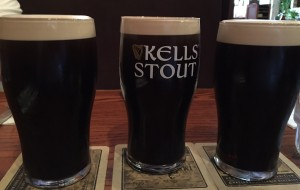 A pint of Kells Stout between 2 pints of Guinness