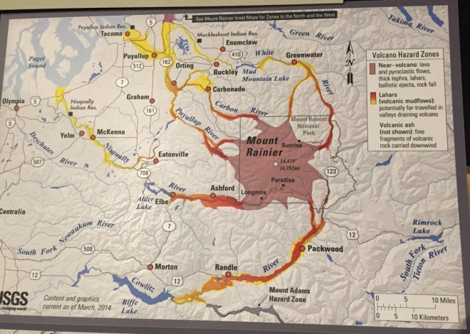 Mount Rainier hazard zones