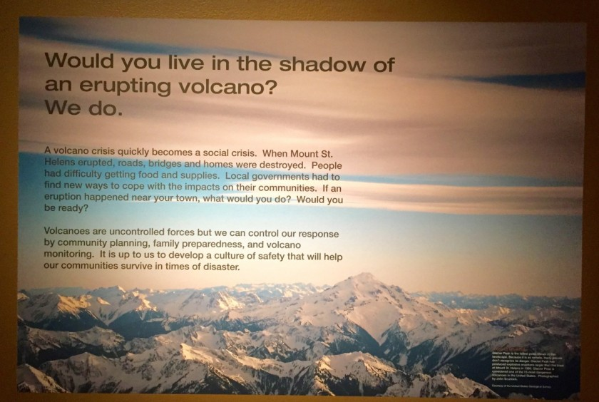 in the shadow of an active volcano