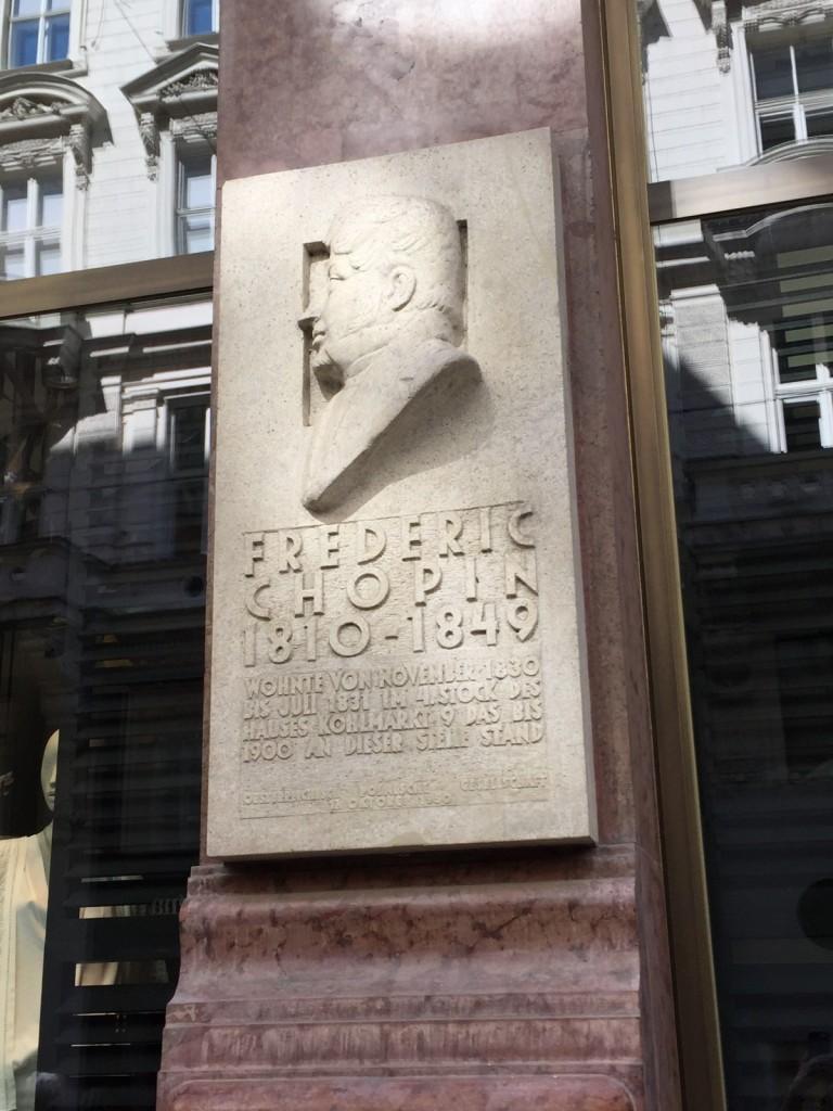 Chopin plaque, Vienna