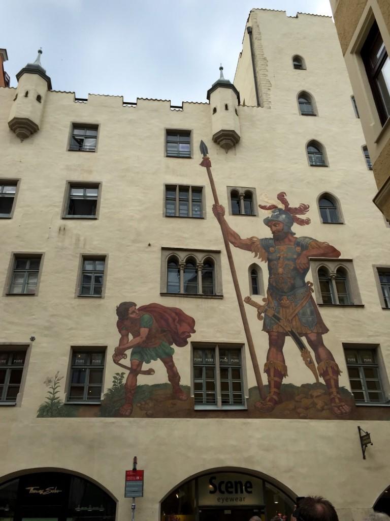 David & Goliath mural, Regensburg