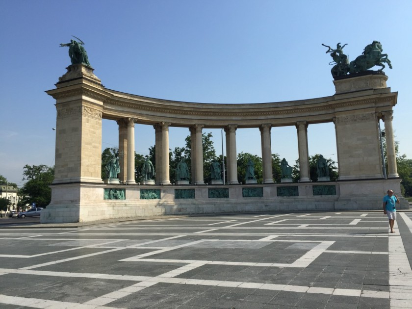 Portion of Heroes' Square, Budapest