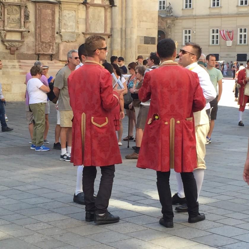 Ticket sellers in Mozart dress, Vienna