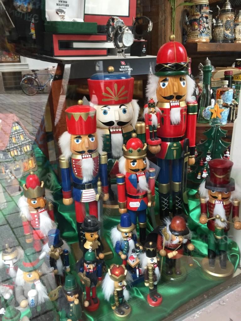 Nutcrackers in shop window, Rothenburg