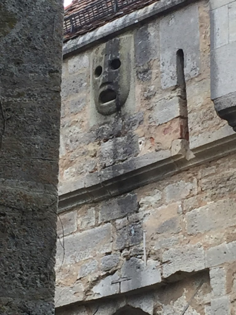Scary Face on wall, Rothenburg