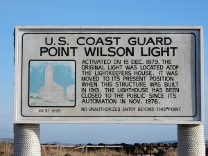 Point Wilson Lighthouse Sign