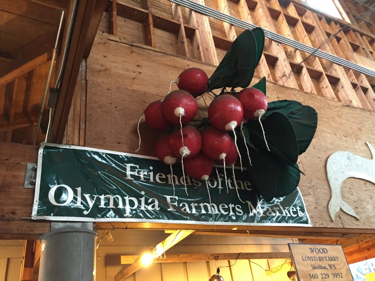 Olympia Farmers Market Sign