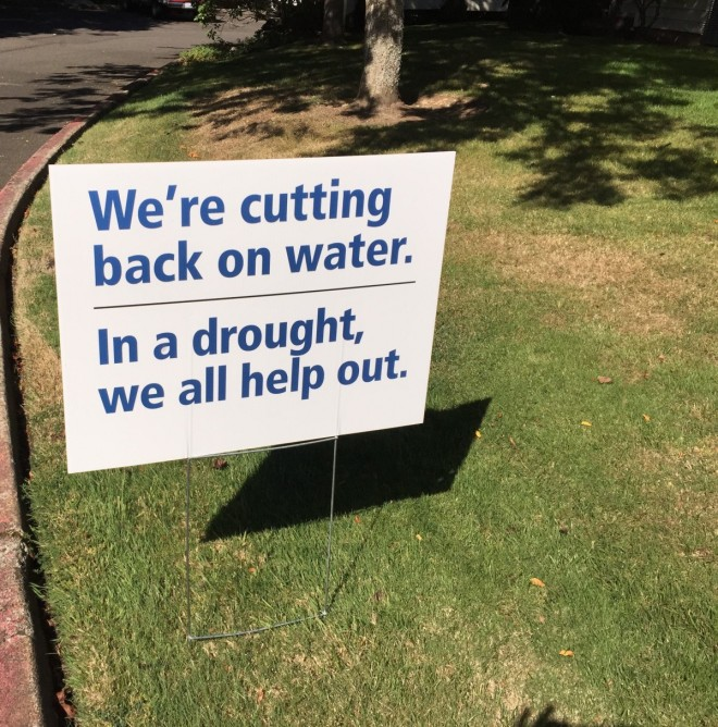 In a drought, we all help out.