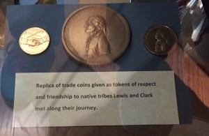 Replica trading coins from Lewis & Clark Expedition