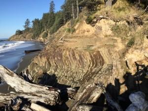 rocky coast at Beach 4