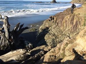 guys on rocks