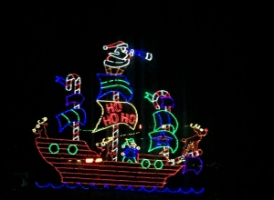 Santa on pirate ship