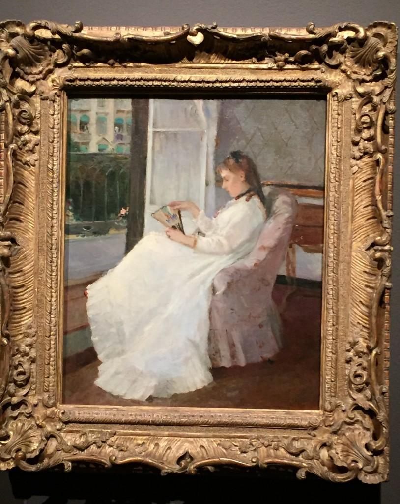 Artist's Sister at Window, Berthe Morisot (1869)