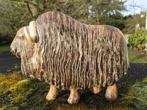 Muskox, carved by Chuck Leake