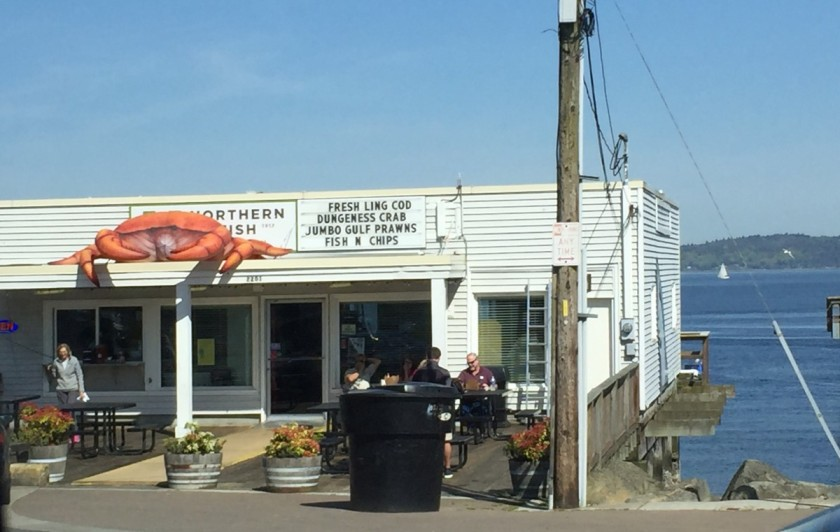 advertisement for Dungeness crab
