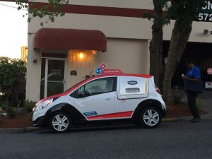 pizza delivery car