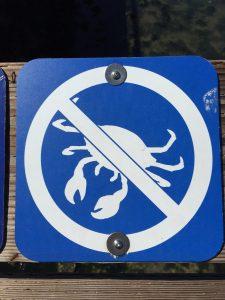 No crabbing allowed