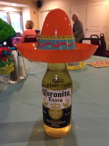 Corona beer with sombrero