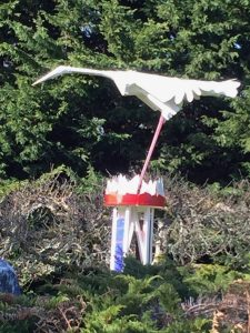 lawn art stork