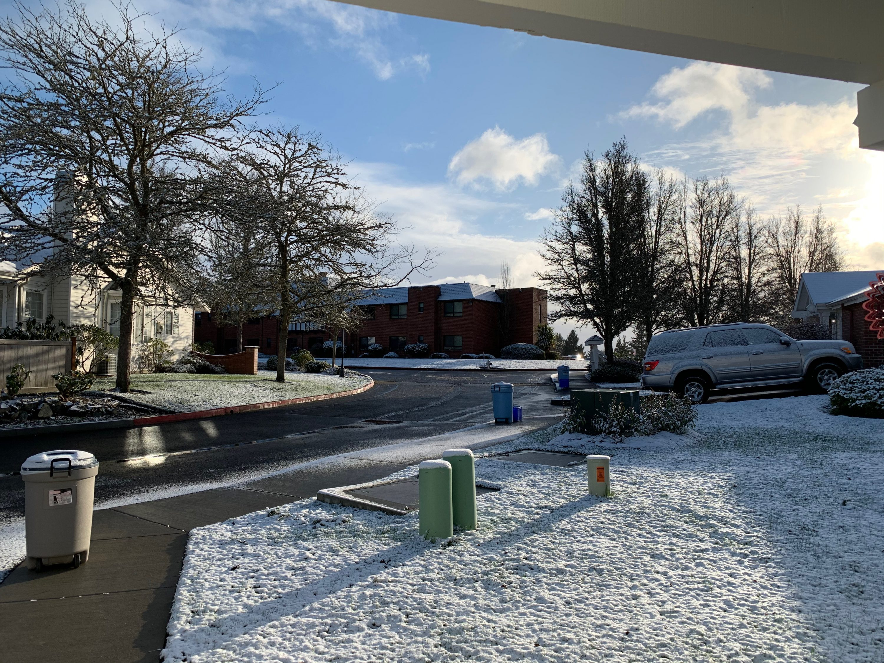 about 1/2 inch of snow, Tacoma, Washington, USA, January 14, 2020