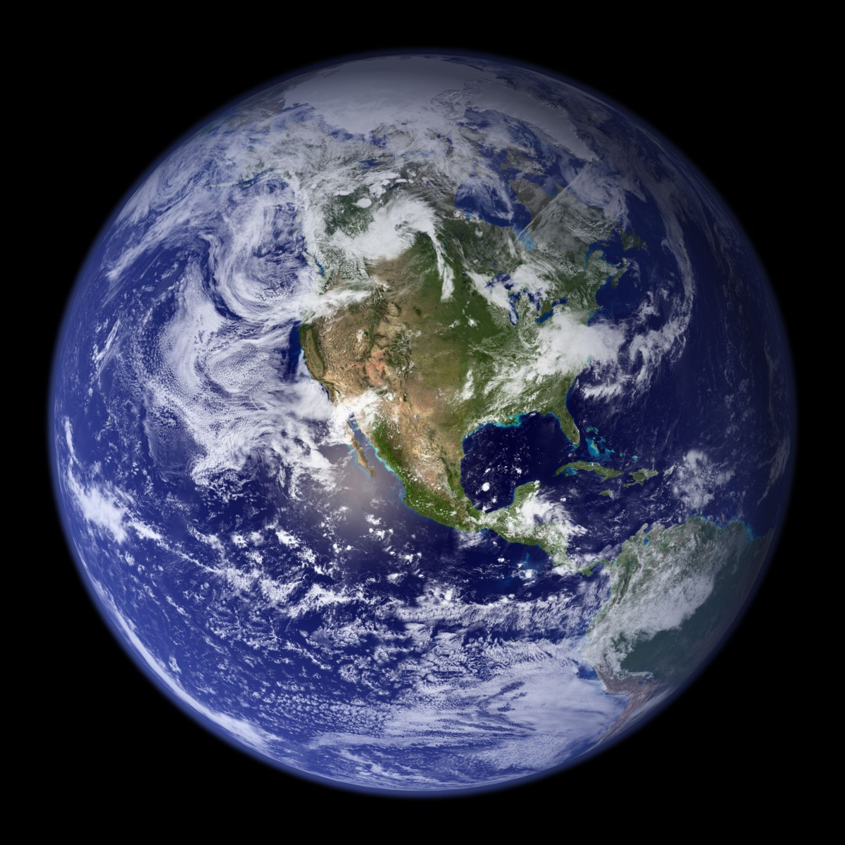 Earth photographed from space