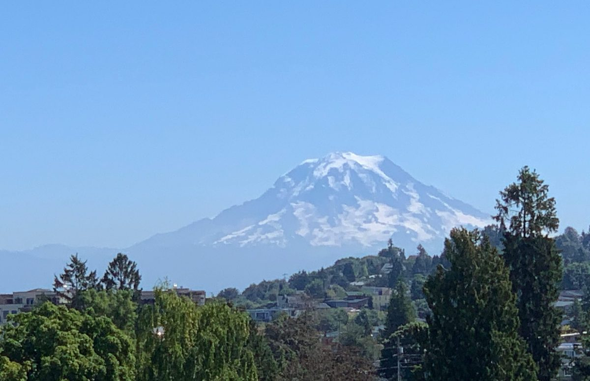 Mount Rainer as seen from the zoo
